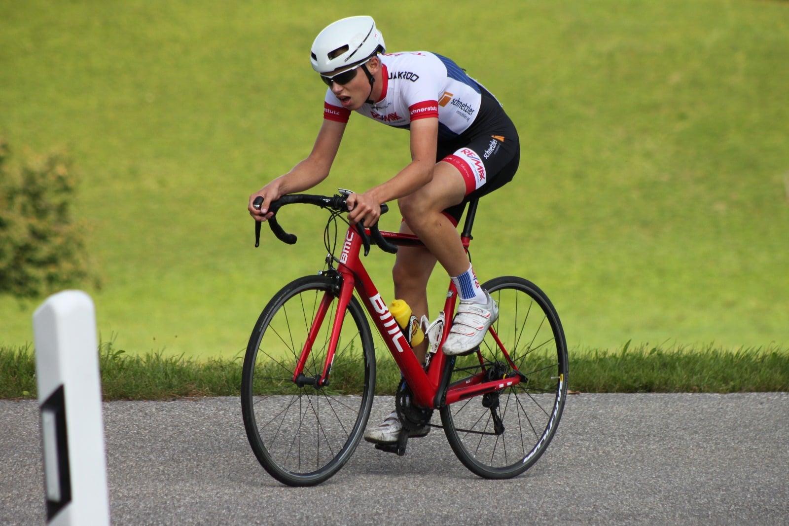 Radsportler Training Wettkampf Bergzeitfahren