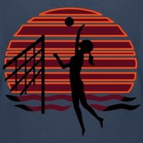 Beachvolleyball vor Sonnenuntergang