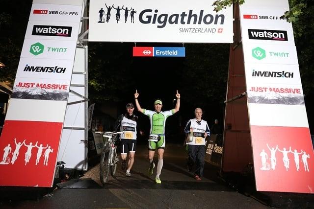 Gigathlon 2016 Zieleinlauf
